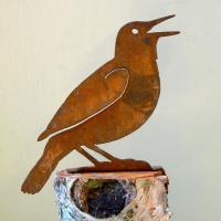 Elegant Garden Design Meadowlark Bird Silhouette