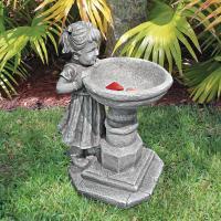 Design Toscano Georgina's Garden Gaze Birdbath Statue