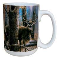 Tree Free Greetings Woodland Sentry Buck Mug, 15 oz