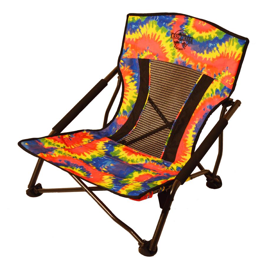 Captivating Crazy Creek Crazy Legs Quad Beach/Festival Chair, Tie Dye
