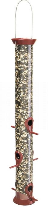 "Droll Yankees 23"" Burgundy Sunflower Seed Tube bird Feeder"