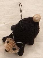 Brushart Kitten Pounce Black Ornament