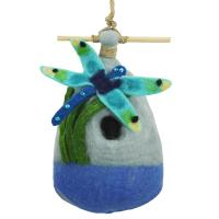 DZI Handmade Designs Big Dragonfly Felt Birdhouse