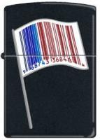 Zippo 218 Black Matte-Identity Flag