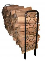 Landmann 8' Ornamental Scroll Hammered Bronze Firewood Rack (32mm Tube and 1.0mm Thickness)