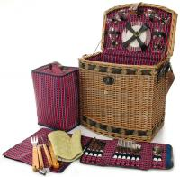 Picnic & Beyond Tuscan Elite Willow Picnic Basket for Four