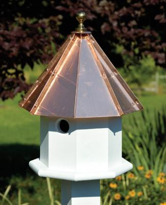 Heartwood Oct-Avian Birdhouse, Bright Copper Roof