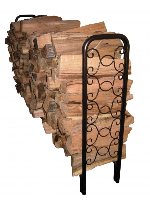 Landmann 8' Ornamental Scroll Hammered Bronze Firewood Rack (32mm Tube and 1.0mm Thickness)