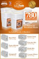 Relief Foods 780 Serving - Essential Entrée & Bucket Combo