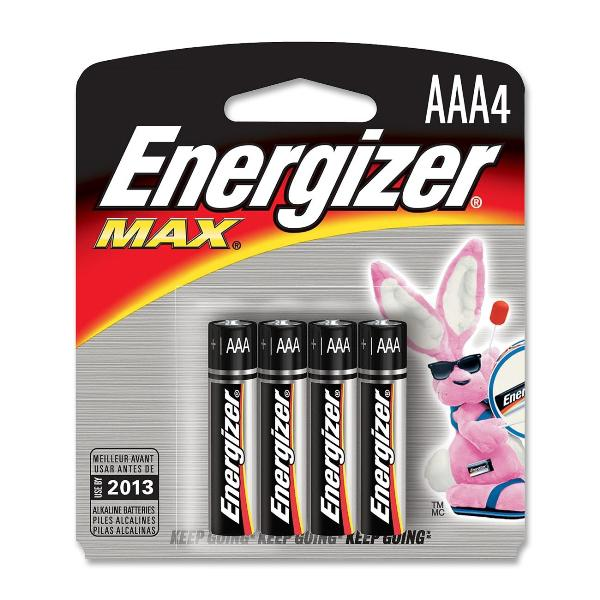 Energizer Max AAA, 4 Pack