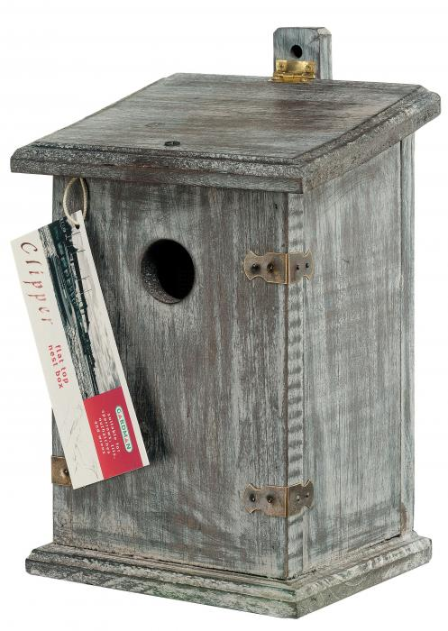 Rainbow-Gardman Clipper Nest Box Flat Roof Birdhouse