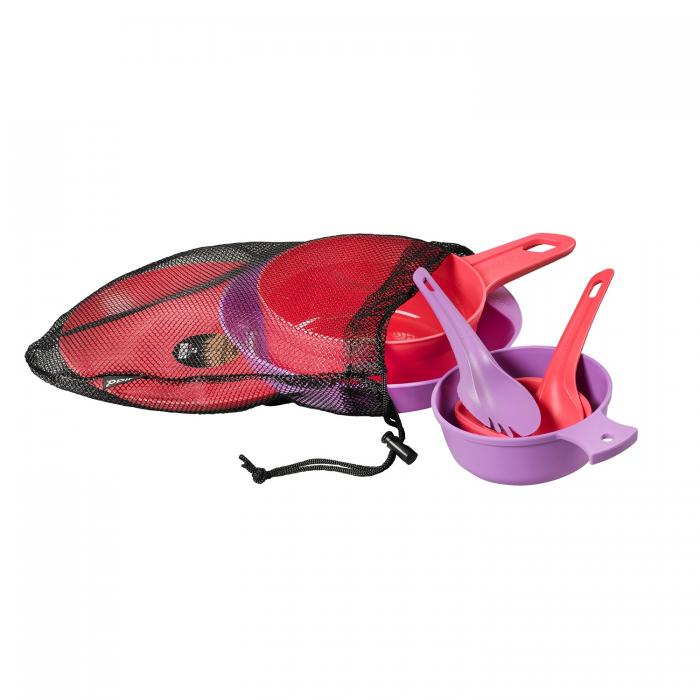 Wildo Eating Essentials - Two Person Set - Lilac/Pink