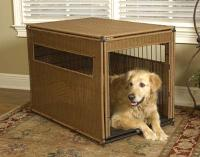 "Simpson Ventures Mr. Herzher's Pet Residence - Dark Brown Wicker - L L 36"" X 24""W X 27""H"
