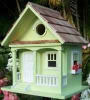 Home Bazaar Birds of a Feather Series Key Lime Cottage Birdhouse (Key Lime)