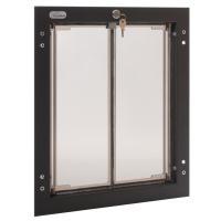PlexiDor Large Exterior Door Application Performance Pet Door, Bronze