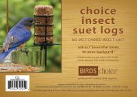 Bird's Choice Choice Insect Suet Logs - (4) 3 oz logs
