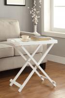 Designs2Go Folding Tray Table, White