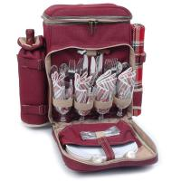 Picnic & Beyond Posh Camper 4 Person Picnic Pack, Red