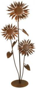 Patina Products Large Sunflower Garden Sculpture