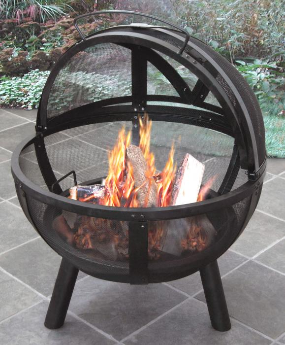 """Landmann Ball O' Fire w/ 30"""" Steel Bowl and Includes Cover"""