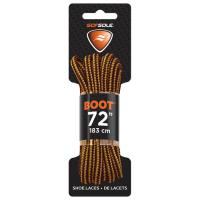 """Boot Waxed Lace Gold/brown 72"""""""