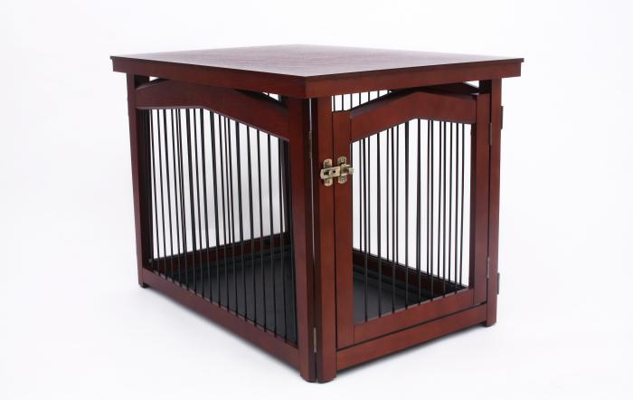 Merry Products 2 in 1 Configurable Pet Crate and Gate- Medium