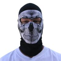 Cold Weather Headwear Coolmax Balaclava Extreme, Full Mask, B&W Skull