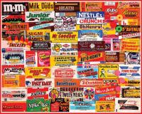 White Mountain Puzzles Candy Wrappers 1000 Piece Puzzle