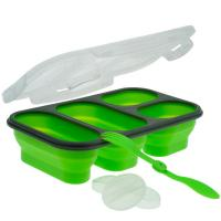 Smart Planet Green 4 Compartment Collapsible Meal Kit