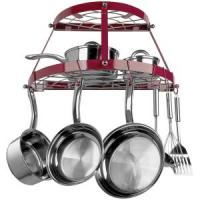 Two Shelf, Wall-mount Pot Rack (red)