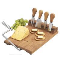 Picnic at Ascot Stilton Bamboo Cheese Board Set with 4 Tools