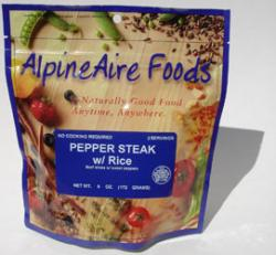 Alpine Aire Pepper Steak with Rice