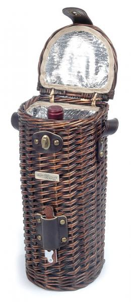 Picnic & Beyond The Vineyard Collection - A Willow Cooler Wine Basket