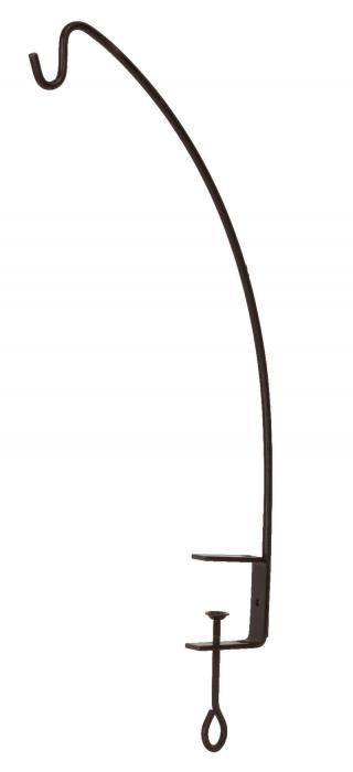 "Panacea 24"" Clamp Style Angle Hook Black"
