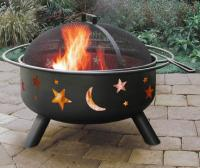 Landmann Big Sky Steel Black Fire Pit with Stars & Moons, 23.5 Diameter Bowl