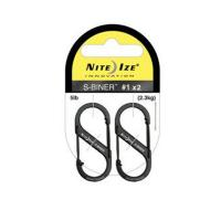Nite-ize S-Biner, Slidelock, 2 Pack, Black