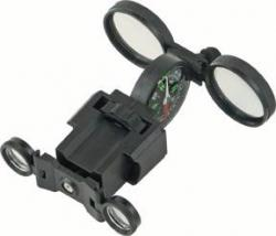 JB Outman Compass w/ Glasses & Magnify Glass Black