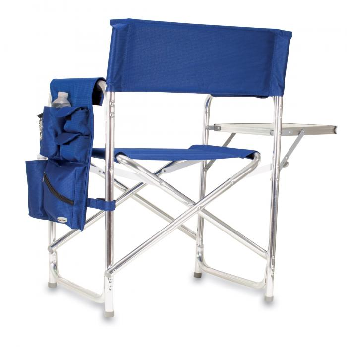 Picnic Time Navy Blue Portable Folding Sports/Camping Chair