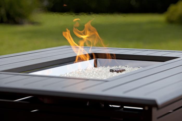 Extruded Aluminum Rectangular LPG Fire Pit