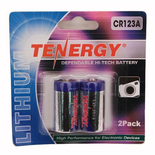 Tenergy CR123 2Pack (Retail),Chrome