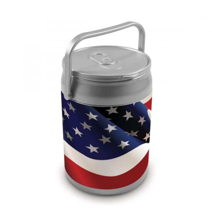 Picnic Time 9 Quart Capacity Can Cooler - American Flag Can