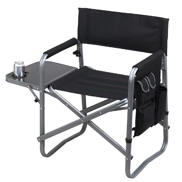 Picnic At Ascot Deluxe Folding Sports Chair   Black