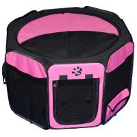 "Pet Gear Travel Lite Soft-Sided Pet Pen with Removable Top Pink 29"" x 29"" x 17"""