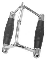 Cap Barbell Double D Handle with Rubber Grips