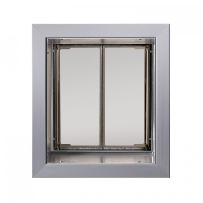 PlexiDor Medium Exterior Wall Unit Performance Pet Door, Silver