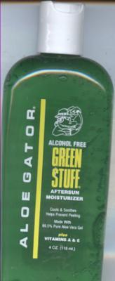 Aloe Gator Green Stuff Aloe Vera Gel, 4 Ounce