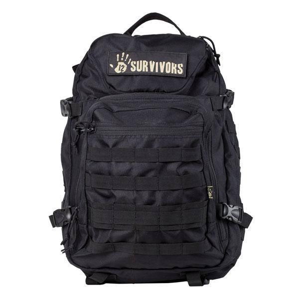 12 Survivors E.O.D. Tactical Backpack, Black