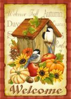 Toland Autumn Birds House Standard Size Garden Flag