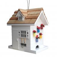 Home Bazaar Potting Shed Bird Feeder - White