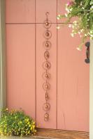 Ancient Graffiti Circles w/Bells Flamed Hanging Ornaments